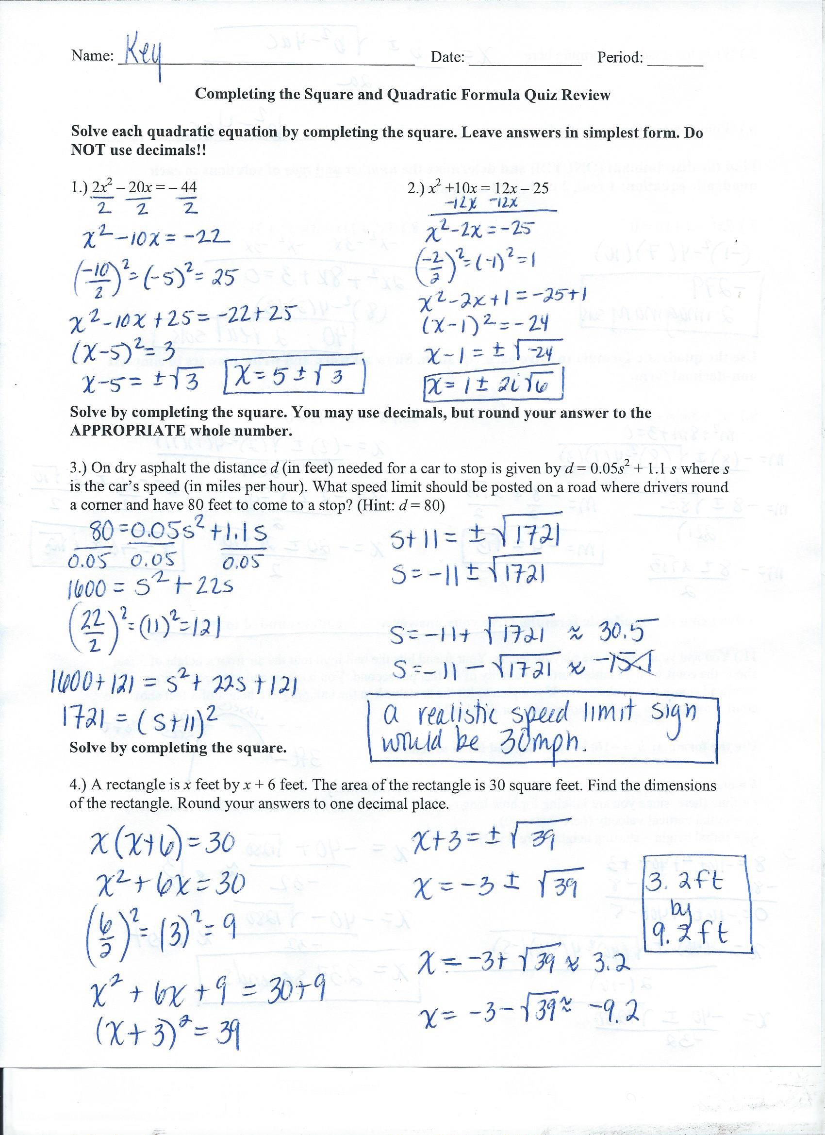 Algebra 2 College Prep - Mrs  Grigas's Class Pages